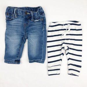 Gap Infant Skinny Jeans & Knit Pants Bundle 0-3M